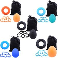 Hand Grips Resistance Bands Suit Strengthener Exerciser Kit With Carrying Bag Finger Stretcher Speed Up Rehabilitation ZZ1018B