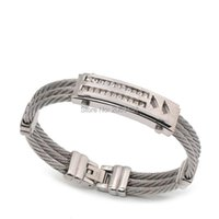 Fashion Jewelry Bracelet Men Magnetic Stainless Titanium Steel Bangle Wristband Casual Charm