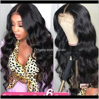 Wigs Products Drop Delivery 2021 The 30-Inch High-Definition T-Part Wig Brazilian Natural Color Remy Human Hair 4X4 Lace Closed Wig, Suitable