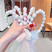 Girls Hair Accessories Sticks Head Bands Headbands For Children Kids Lace Pearl Princess