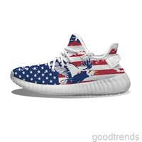 DIY pattern shoes USA Pigeon Running Shoes Mesh Printed Mens Womens Trainers Outdoor sneakers