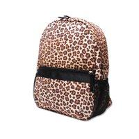 Designer Leopard Toddler School Bag Seersucker kids backpack Cute Cheetah School Book Bags with Side Mesh Pockets DOM106187