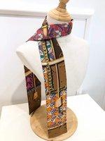 Bufanda de seda Banda para el cabello multiusos, bolso de bolso Cinta decorativa, bufandas dobles de alta calidad 120 * 8cm