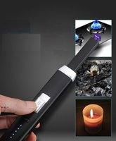 Electric Rechargeable USB Kitchen BBQ Long Igniter Windproof Pulse Arc Lighter For Candles and Fireworks NHF8935