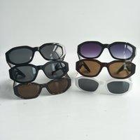 Мужчины нерегулярные мелкими рамы солнцезащитные очки дамы дизайнерские очки модные очки с коробкой и корпусом 10 цветов