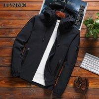 Homens jaqueta de bombardeiro impermeável homens fino coletes cor sólida primavera outono casual casaco casaco casaco casaco para roupas masculinas Luyzjzen x0621