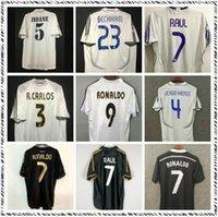 Retro 10 11 12 Real Madrid Soccer Jersey Ramos McManaman 13 14 15 Ronaldo Zidane Beckham 06 07 1999 00 Camicie da calcio Carlos