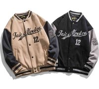 Autumn and winter2021 hip-hop baseball jacket big letters embroidery patchwork Korean streetwear college rock jacket japanese fashion