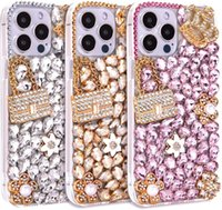 Crystal Bling Women Cute Bag Crown Cell Phone Cases Handmade Diamond Pendant Protective Cover for Iphone 12 13 Mini 11 Pro Max Xr X 8 7
