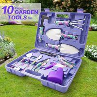 10 pcs set Garden Plant Tool Set Pruning Pliers Manual Shovel Rake Clippers Irrigation Watering Planting Gardening Kit