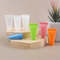 100pcs lot 5ml Soft Tube Plastic Lotion Containers Empty Makeup Squeeze Tube Refilable Bottles Emulsion Cream Packaging bag
