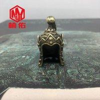 Ferramentas Bronze 1 PC Antigo Capacete Chinês Paracord Faca Bead Keychain Pingente Gadgets ao ar livre
