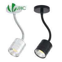 Wall Lamp Led Spot Lights 7W COB AC12V 230V Flexible Tube Ceiling Lamps Hose Track Light For Jewelry Showcase Counter Exhibition