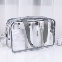 Transparent PVC Bags Travel Organizer Clear Makeup Bag Beautician Cosmetic Bag Beauty Case Toiletry Bag Make Up Pouch Wash Bags VT0077