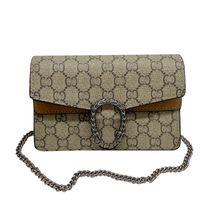 Luxus Handtaschen Frauen Umhängetaschen 2021 Mode Kette Designer Hohe Qualität Braun Buchstaben Leder Crossbody Bag