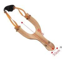 어린이를위한 나무 slingshot 고무 로프 전통적인 사냥 도구 야외 놀이 슬링 샷 운동 아이들을 목표로 HWB9009