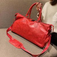 Мода Черная Вода Пульсация Спортивная Duffle Сумка Красный Багаж M53419 Человек и Женщины Duffel Сумки с Блокируем Тег