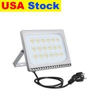 USA Stock Outdoor Lighting Floodlights AC110V 220V IP65 With US EU Plug 10W 20W 30W 50W 100W Suitable For Warehouse,Garage,Factory Workshop,Courtyard,Garden