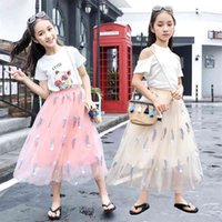 Tutu Rock für Babymädchen Chiffon Prinzessin Lange Mädchen Stickerei Feder Kostüm Koreanische Kinder Kleidung Mutter Tochter S 210622