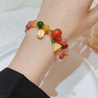Bangle Retro Simple Agate Shower Natural Stone Bracelets Women Jewelry