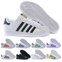 adidas superstar smith Hot Mens Womens Superstar Shoes 캐주얼 워킹 슈즈 여성 플랫 15 색 사이즈 36-44 새로운 색상