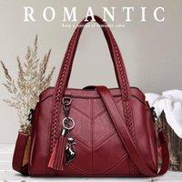 Spiraea Top-Handle Bag for Tassel Tote Luxury Women Shoulder Messenger Bags Designer High Quality Leather Handbag GP0L