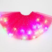 여러 가지 빛깔의 귀여운 키즈 드레스가 조명과 함께 드레스 스타 퍽스 스커트 무대 공연 및 파티 275 K2에 대한 푹신한 빛나는 소녀 드레스
