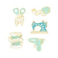 Naaimachine emaille broches pin voor dames mode jas jas shirt demin metalen grappige broche pins badges promotie cadeau 1127 T2