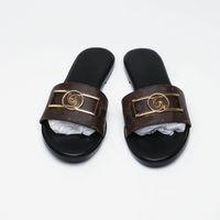 Mulheres guingão moda amor sandálias sandália com decoração de metal ouro preto marrom e branco slides