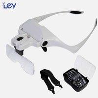 Kafa Bandı Büyüteç Cam Ile LED Işık Gözlük Büyüteç Cep Telefonu Tamir Kafası için Sürükle Büyüteç Handsfree Lens 1x-3.5x