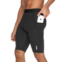 Men's Shorts 2021 Summer Bodybuilding Fitness Men Gym Quick-drying Tight Running Five-point Pants Compression
