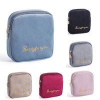 Storage Bags Sanitary Napkin Bag Organizer Coin Purse Jewelry Makeup Travel Zipper Case Pouch Canvas Pad For Cosmetics