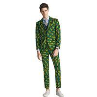 Ternos masculinos Blazers Moda Africana Homens Masculino Casual Noivo Calça Homem 2 PCS Blazers + Calças Conjuntos de Casamento para Droom