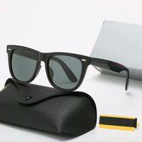 Luxus-Sonnenbrillen-Mode für Mannfrau-Top-Qualität-Sonnenbrille polarisierte UV400-Linsen-Leder-Fall-Tuch-Box-Zubehör
