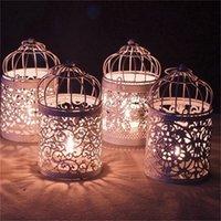 Metal Birdcage Hollow Hierro Vintage Vela Soporte de vela de hierro labrado Decoración del hogar Boda Romántico suministros de cumpleaños Regalo de San Valentín 316 R2