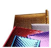 2021 3size 15 * 13 cm / 18 * 23 cm / 20 * 25 cm Oro Acolchado Envío envolvente Metallic Bubble Mailer Oro Aluminio Foil Bolsa de regalo Envoltura de embalaje