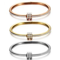 Bangle ZORCVENS Luxury Crystal Beaded Bracelet Bangles For Women Fashion Gold Silver Color Stainless Steel Charm Jewelry Gifts