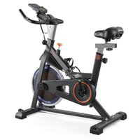 Inomhuscykelcyklar med LCD-skärm iPadfäste, justerbara handtag och sittplats, justerbart motstånd för alla åldrar kardio träning hemma