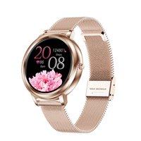 MK20 Women Smart Watch Full Touch Screen Multi-sport 39mm Waterproof Diameter Lady Girl Compatible Android IOS Smartwatch Woman