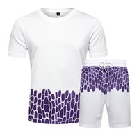 Summer Tracksuit Sets for Man T Shirts Two Piece Tops+ Shorts Suit Romper Outfit Sportswear