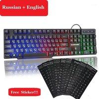 Multi Multi Language Sticker Gamer Keyboard Suspended Readlight KeyCaps Wired USB Gaming per computer portatile PC11