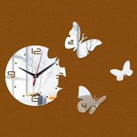 Wall Clocks Reloj De Pared Angel Stars Clock Luxury Mirror Number Watche Decor 3d On The Kids Ro