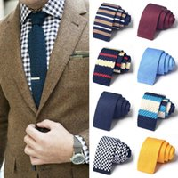 2021 New Britain Style Retro Knitted Tie For Men High Quality Fashion Casual 6cm Skinny Necktie Male Suit Cravate Gift Box1