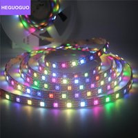 Pixel Strip RGBW   RGBWW 4 In 1 DC5V Flexible Light Black PCB 60leds m IP30 IP65 IP67 Smart Addressable Strips LED