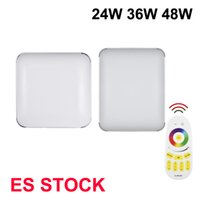 48W RGB Square LED Ceiling Lights 24W Fixture Flush Mount Thin LEDs Panel Lamps for Bedroom Bathroom Dimmable Lighting