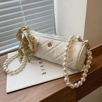 Evening Bags Beaded Shoulder Belt Design PU Designer Leather Small Crossbody For Women 2021 Summer Fashion Brand Handbags And Purses