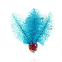 """Teal Blue Natural Ostrich перья декор 10 """"-12"""" (25см-30см) Свадебная вечеринка DIY украшения ремесла головные уборы бесплатная доставка"""