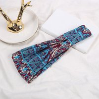 European and American hair band printed headdress sports Yoga headband sweat absorbing wide edge scarf Bandanas ZZA6906