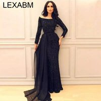 Casual Dresses Black Sequins Maxi For Women Party Evening Dress Prom Slash Neck Long Sleeve Slim Robe Vestido Nightclub Sprin