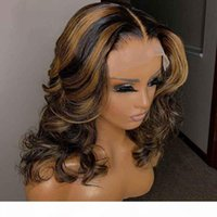 PAFF Highlight Lace Front Wig Loose Wave Ombre Blonde Highlighted Wigs Preplucked Full Lace Human Hair Wigs Colored